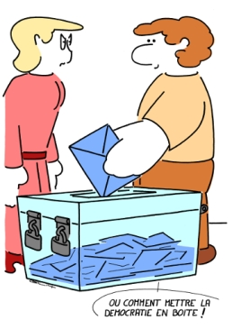– How to put democracy in a box ! https://gilscow.wordpress.com/2014/05/29/democratie-democracy/
