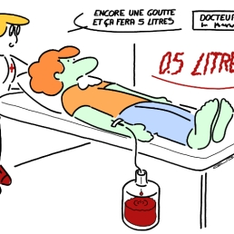 DOCTOR - One drop more and that will make 5 liters ! - 0.5 liter !!!