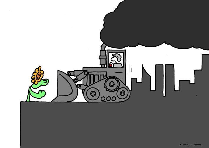 Monsieur le bulldozer, t'as vraiment pas de chance !