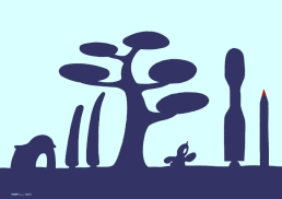 silhouette sur https://gilscow.wordpress.com/2015/04/14/incertitude-uncertainty/
