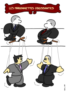 OBEDIENT PUPPETS https://gilscow.wordpress.com/2015/09/17/marionnettes-puppets/