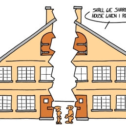 - Est-ce qu'on doit se partager la maison quand je suis en retraite ?