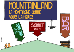 MOUNTAINLAND, the mountain as you will like it MAX SLOPE 4% TIP 24 M BAR https://gilscow.wordpress.com/2016/07/14/mountainland/