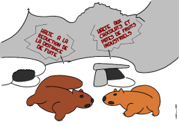 STOP THE REDUCTION OF ESCAPE DISTANCE - STOP INDUSTRIAL CHOCOLATE AND CANDIED FRUITS https://gilscow.wordpress.com/2016/07/05/marmottes-marmots/