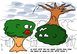 – Wind is no reason to get uprooted*, beech friend ! https://gilscow.wordpress.com/2016/11/03/jambe-en-lair-uprooted/