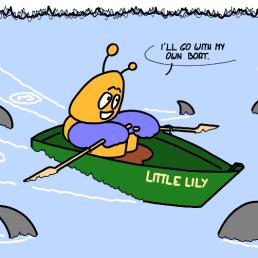 – J'irai avec mon propre bateau. https://gilscow.wordpress.com/2017/01/17/bateau-boat/