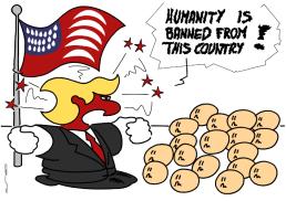 – L'humanité est bannie de ce pays ! https://gilscow.wordpress.com/2017/01/27/humanite-humanity/