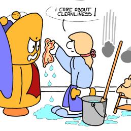 – La propreté, je m'en occupe ! https://gilscow.wordpress.com/2018/07/12/proprete-cleanliness/